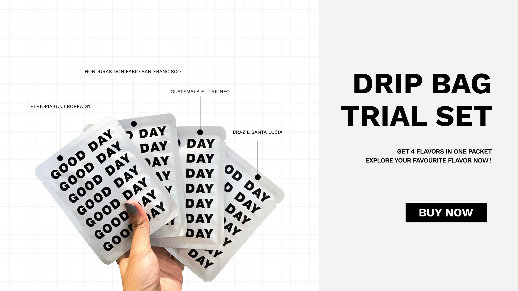 Drip bag trial set